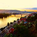 Prague At Sundown by Oliver Novak