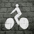 Prague Bike Lane-  By Linda Woods by Linda Woods