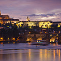Prague Castle And Charles Bridge by Andre Goncalves