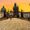 Prague - Charles Bridge - Czech Republic by Luciano Mortula
