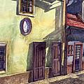Prague Golden Line Street by Yuriy Shevchuk