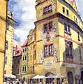 Prague Karlova Street Hotel U Zlate Studny by Yuriy Shevchuk