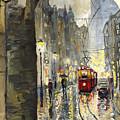 Prague Mostecka Street by Yuriy Shevchuk