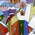 Prague Old Roofs Winter by Yuriy Shevchuk