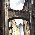 Prague Old Street 02 by Yuriy  Shevchuk