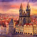 Prague Old Town Square 02 by Yuriy  Shevchuk