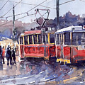 Prague Old Tram 01 by Yuriy  Shevchuk