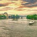 Prague River Panorama From Charles Bridge by Leigh Kemp