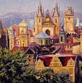 Prague. Roofs. by Anna Berezina