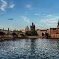 Prague Sunset by Sharon Popek