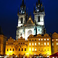 Prague Tower At Night by Jeff White