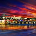 Pragues Historic Charles Bridge by Russ Harris