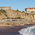 Praia Da Poca Beach In Estoril Portugal by Artur Bogacki