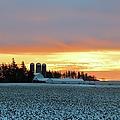 Prairie Winter Sunrise by Bonfire Photography