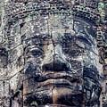 Prasat Bayon Stone Face  by Art Phaneuf
