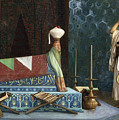 Prayer At The Sultan's Room  The Grief Of Akubar  by Jean Leon Gerome