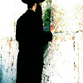 Praying At The Western Wall - Jerusalem Israel by Merton Allen