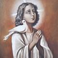 Flygende Lammet Productions    Praying Jesus by Sigrid Tune