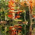 Prentiss Pond, Dorset, Vt., Autumn by Patti Campbell