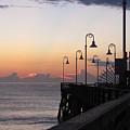 Pre-sunrise On Daytona Beach Pier   by Chris Mercer