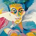 Preciada Azancot Self-portrait With A Dove by Preciada Azancot