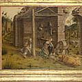 Predella Of La Madonna Della Rondine by PixBreak Art