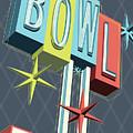 Premiere Lanes Bowling Pop Art by Jim Zahniser