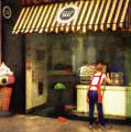 Preparing The Ice Cream Shop by Peter Hayward Photographer