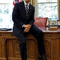 President Barack Obama Sits On The Edge by Everett