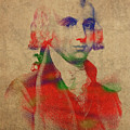 President James Madison Watercolor Portrait by Design Turnpike