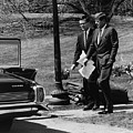 President Kennedy With Theodore by Everett