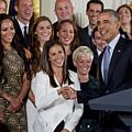 President Obama Honors Us Womens Soccer Team At White House #1 by B Christopher