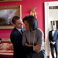 President Obama Hugs First Lady by Everett
