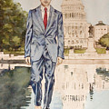 President Obama Walking On Water by Andrew Bowers