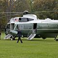 President Obama Walking Toward Marine One by B Christopher
