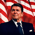 President Ronald Reagan Speaking - 1982 by Mountain Dreams