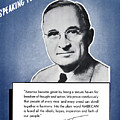 President Truman Speaking For America by War Is Hell Store