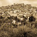 Pretoro - Landscape In Sepia Tones  by Andrea Mazzocchetti