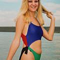 Pretty Blonde On The Beach by Steve Krull