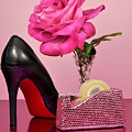 Pretty Pink Bling Office Accessories by Milleflore Images