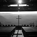 Pretty Place Aka Fred W. Symmes Chapel Black And White by Lisa Wooten