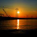 Price Legg Bridge Sunset by Joseph Johns