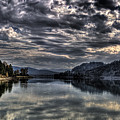Priest River Panorama 3 by Lee Santa
