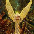 Priestess Of The Woods-angel Tarot Card by Steve Roberts