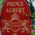 Prince Albert Guest House Sign Provincetown by Poet's Eye