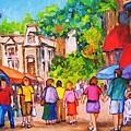 Prince Arthur Street Montreal by Carole Spandau