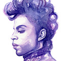 Prince Musician Watercolor Portrait by Olga Shvartsur