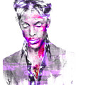 Prince Rogers Nelson Digital Painting Musician by David Haskett II