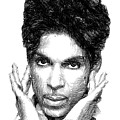 Prince - Tribute Sketch In Black And White 2 by Rafael Salazar