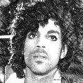 Prince - Tribute Sketch In Black And White 3 by Rafael Salazar